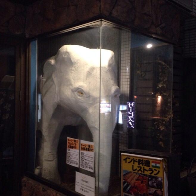 新宿の巨大な像(ゾウ)