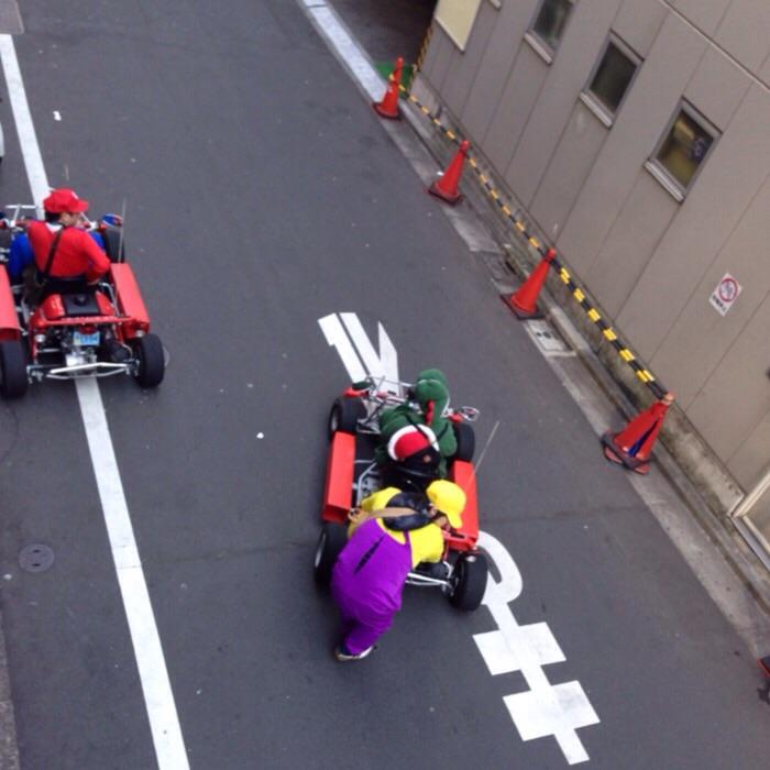 渋谷にマリオカートがいたよ